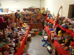 Christmas distributions by the Food Pantry
