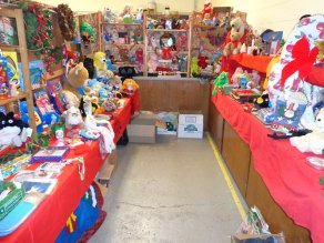 "Food Pantry Christmas ""store"" for families in need"