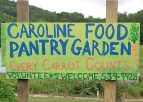 Food Pantry Garden sign