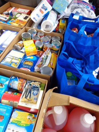 misc donations for distribution by the Food Pantry