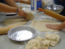 Baking pies for BCC's annual Apple Fest