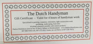 Auction - Dutch Handyman