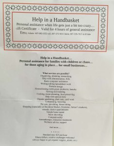 Auction - help in a handbasket 1